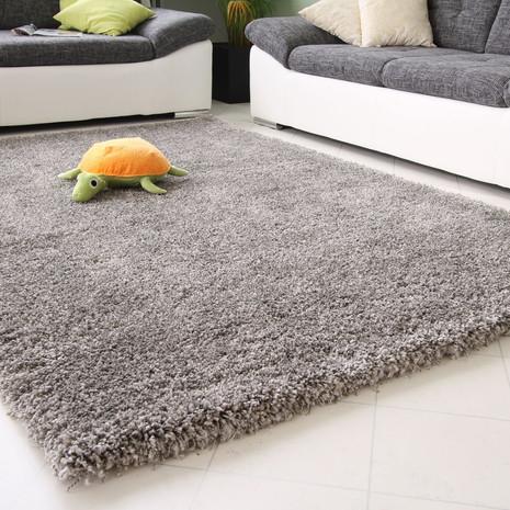 2x Teppich-Läufer, grau, 65x130 cm, neu