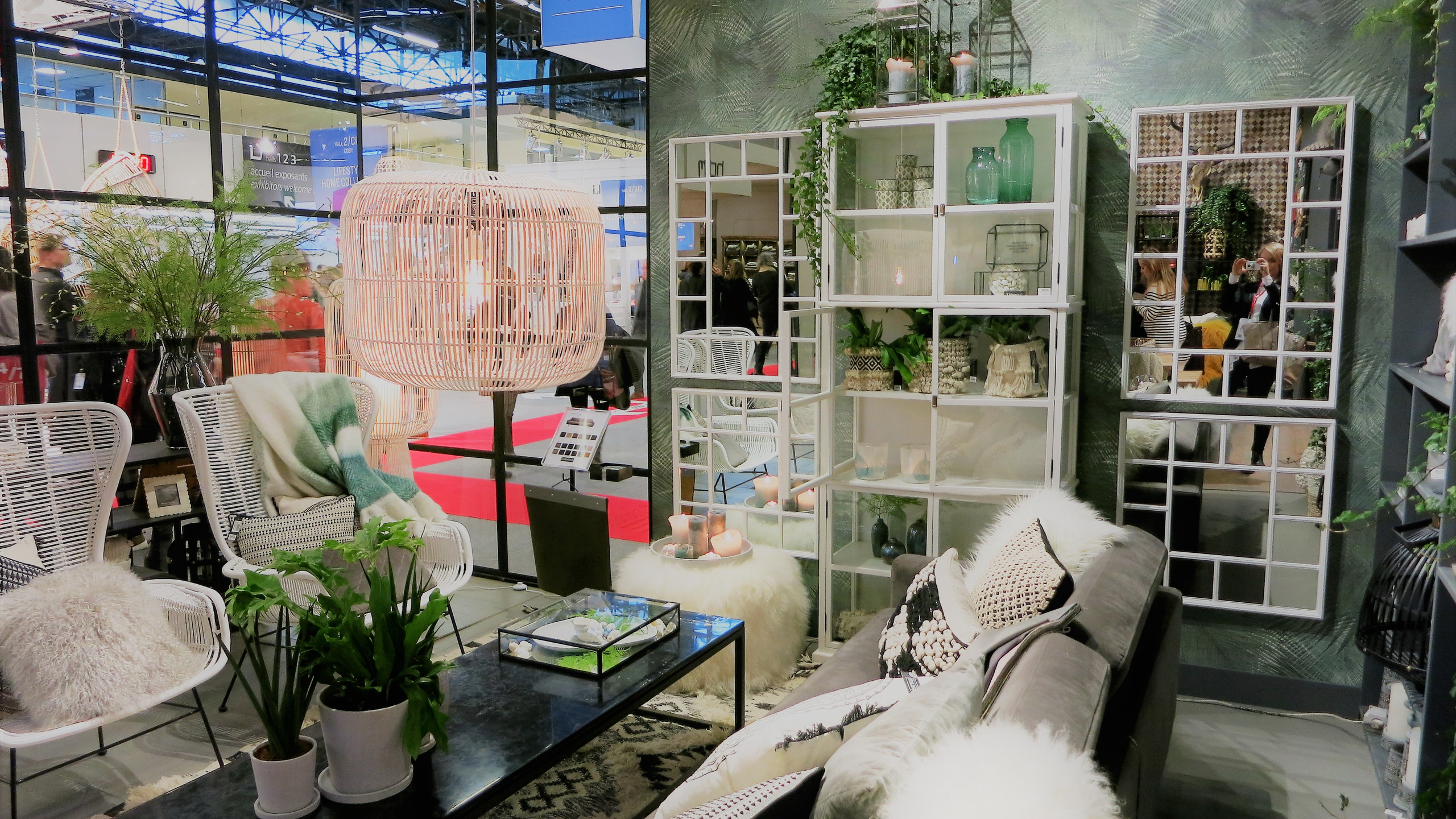 Maison & Objet Paris  Greenery, die Pantone-Farbe des Jahres, sieht man überall.