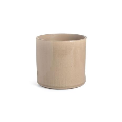 2x Vase/Blumentopf, Glas, natur