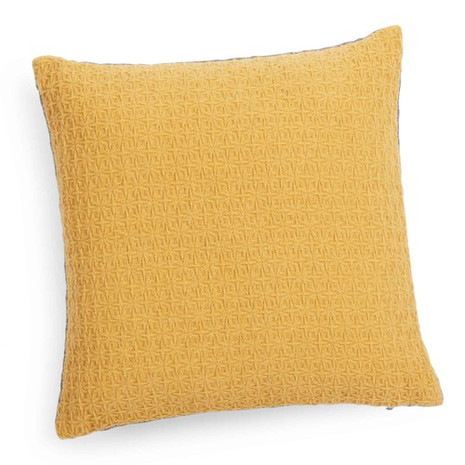 3x Kissen inkl. Füllung, gelb/Rückseite grau