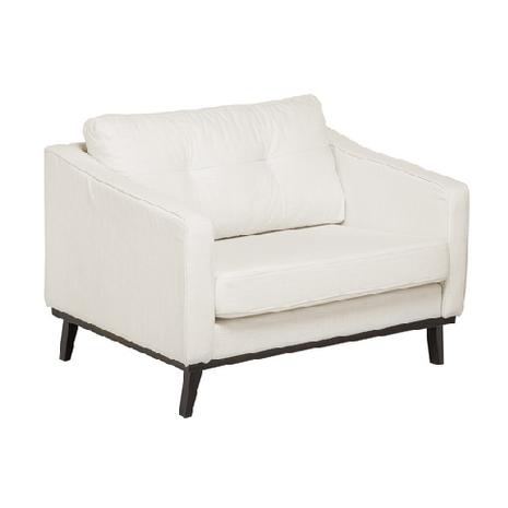 XL-Sessel, B 116 cm / T 90 cm, cremeweiß, Holzbeine wengefarben