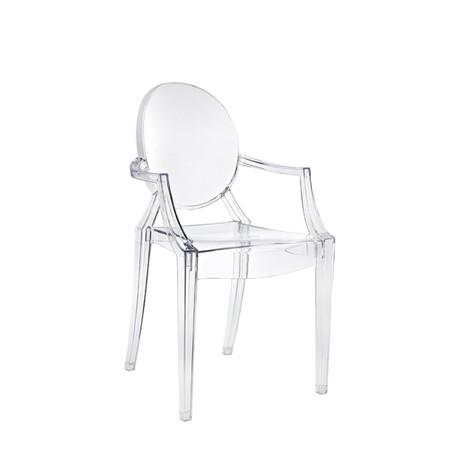 2x Stuhl, transparent, Indoor/Outdoor
