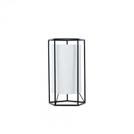 2x Tischleuchte, Stahl/Stoff