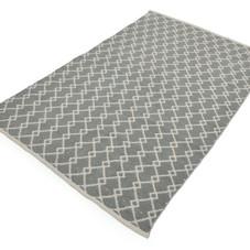 Teppich, Indoor/Outdoor, grau/creme, 120x180 cm