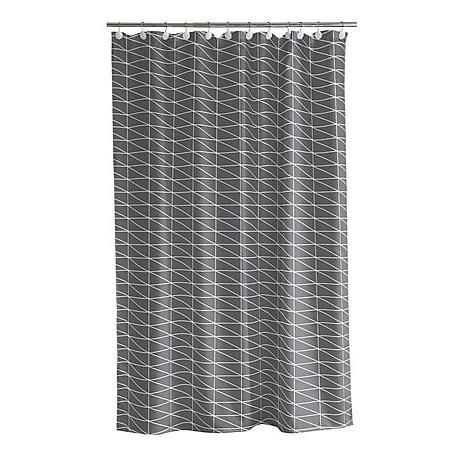Duschvorhang, grau/weiß