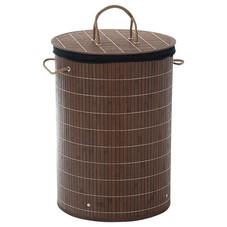 (WäscheKorb mit Decke, Bambus, H 60 cm