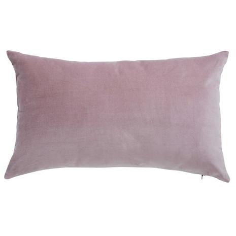 3x Kissen inkl. Füllung, Samt, rosé