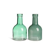 8x Vase, Glas, Grüntöne (div. Ausführungen)