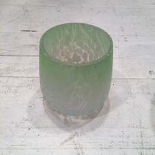 2x Windlicht, grün