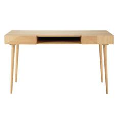 Schreibtisch mit Schubladen, 140x60 cm, Eiche/MDF