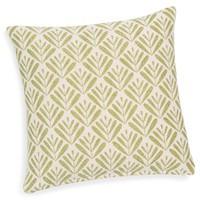 4x Kissen inkl. Füllung, grün/weiß, Blätter