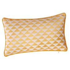 3x Kissen inkl. Füllung, Zick-Zack, gelb/weiß