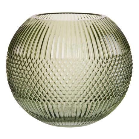 2x Vase, Glas, grün