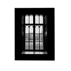 Poster, schwarz-weiß, Fenster