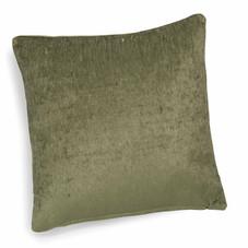 2x Kissen inkl. Füllung, Samt, grün