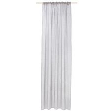Vorhang-Set (2 Schals), Leinen, hellgrau, L 300 cm