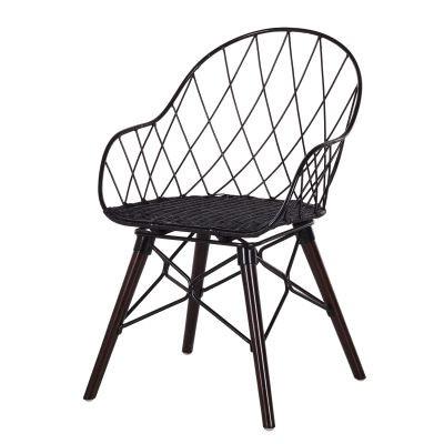 4x Stuhl, Holz/Stahl