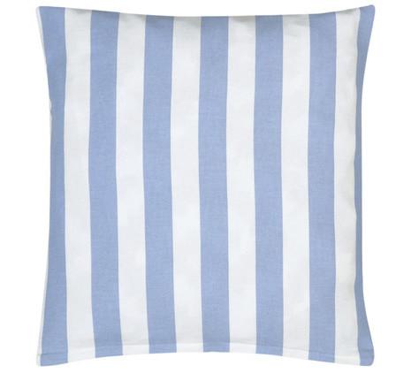 4x Kissen inkl. Füllung, blau-weiß gestreift