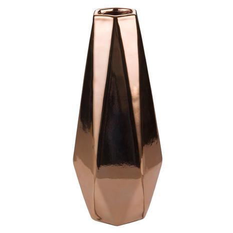 Vase groß, Keramik, Messing