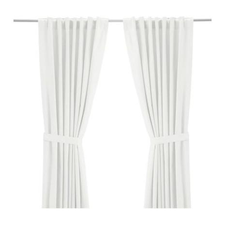 Vorhang-Set (2 Schals), cremeweiß, L 300 cm