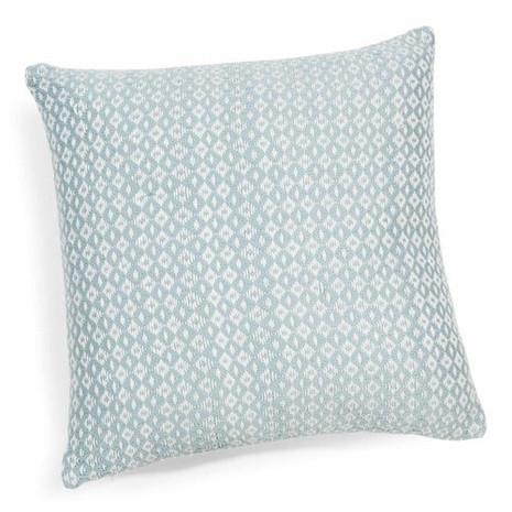 2x Kissen inkl. Füllung, hellblau/weiß