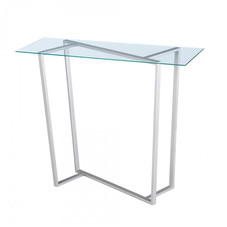 Konsolen, Glas/Stahl, 100x39 cm