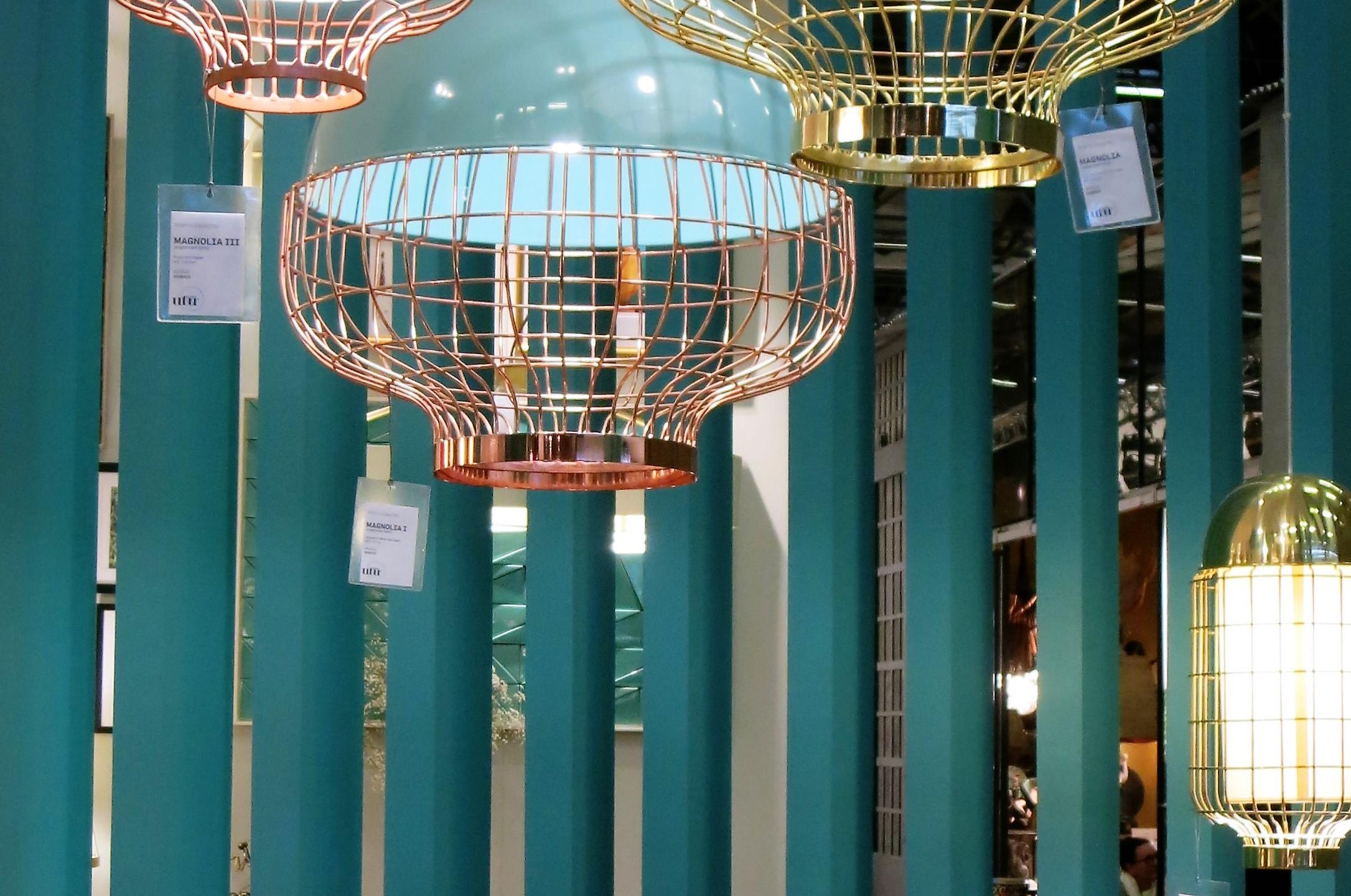Maison & Objet Paris  Türkis kombiniert mit Kupfer und Messing.