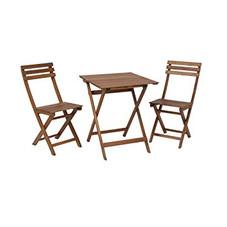 Balkonmöbel, Holz, Set 3-tlg.
