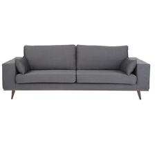 Sofa, B 238 cm / T 92 cm, dunkelgrau, Holzfüße, neu