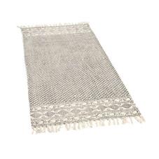 2x Teppich-Läufer, grau/creme, 60x140 cm