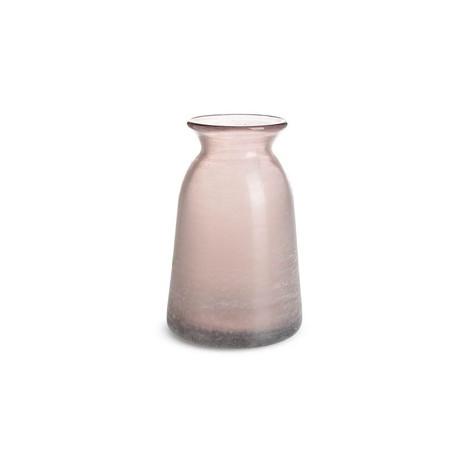 3x Vase klein, Glas, rosé