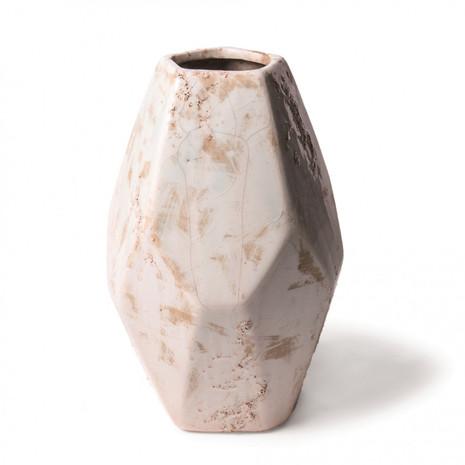 Vase, Keramik, natur/sandfarben