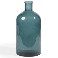 Vase, Glas, petrolblau