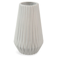 Vase, Keramik, weiß