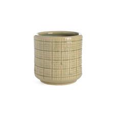 2x Vase/Blumentopf, Keramik, grün