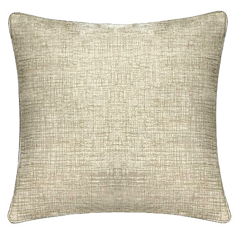 2x Kissen inkl. Füllung, Chenille, 50x50 cm, beige
