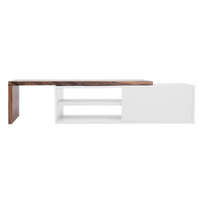 TV-Unterschrank, schwenkbar (B 110/203 cm), originalverpackt (Holzelement lässt sich auf 90° drehen)