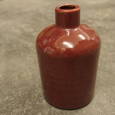 Vase, Keramik, rostrot