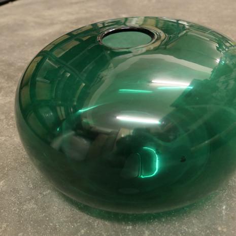 Vase, Glas, groß, grün
