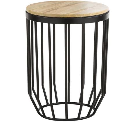 Beistelltisch, Holz/Stahl