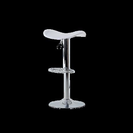 2x Barstühle, Kunststoff weiß, höhenverstellbar