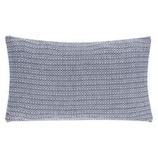 3x Kissen inkl. Füllung, blau-grau