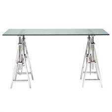 Tisch, Glas/Stahl, 150x80 cm, originalverpackt