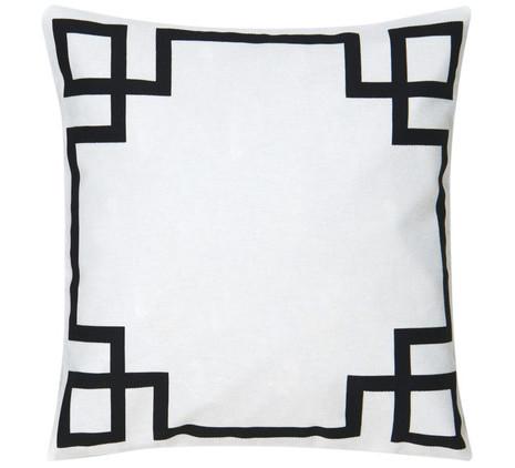 3x Kissen inkl. Füllung, schwarz-weiß