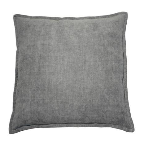 2x Kissen inkl. Füllung, Chenille, 50x50 cm, grau