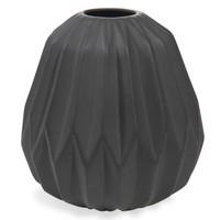 4x Vase, Keramik, schwarz