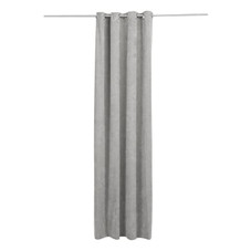 Vorhang-Set (2 Schals), Samt, grau, L 245 cm