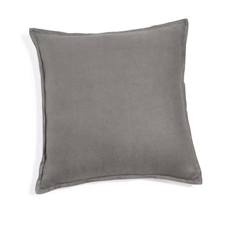 4x Kissen inkl. Füllung, grau