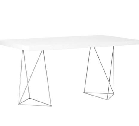Tisch 160x90 cm, weiß Hochglanz