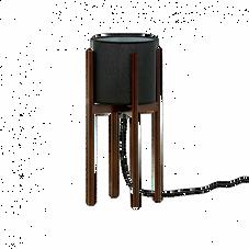 Tischleuchte, schwarz/Holz